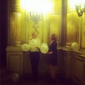 Luftballons, Gold, Säulen... schöner kanns eigentlich kaum werden; Foto: MKG