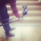 Das Treppenhaus eignet sich perfekt als Kulisse für Film- und Fotoaufnahmen; Foto: MKG