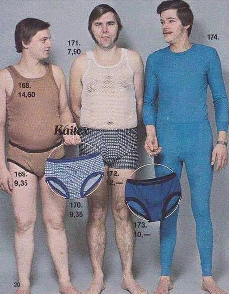 Aus einem Herrenunterwäschekatalog der 70er Jahre via Twitter